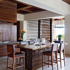 KITCHEN TABLE \\ Online Exclusive - Clooney's Kitchen Dining Area: Architectural Digest