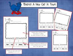 FREE Pete the Cat pocket chart activity for concepts of print practice.