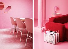 How To Create The Most Coveted Chick Pink Office - If you are fond of bold colours, bold interior design and bold pieces of furniture, that defy the Pink Furniture, Lounge Furniture, Upholstered Furniture, Office Furniture, Best Interior Design, Luxury Interior, Pink Hallway, Pink Office Decor, Pink Sofa
