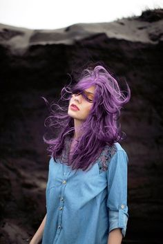 Pastel Purple hair color. Now that would get people's attention. I love it.