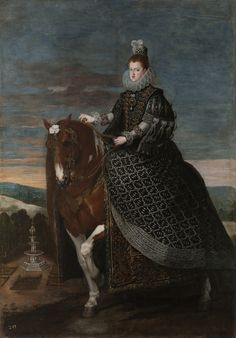 Diego Velázquez    Queen Margaret of Austria on Horseback (ca.1635)    Museo del Prado, Madrid, Spain