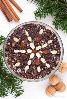 Polish Poppy Seed Christmas Dessert (sweet pudding) from Silesia Polish Recipes, Polish Food, Kielbasa, Christmas Desserts, Acai Bowl, Seeds, Beverages, Dessert Recipes, Pudding