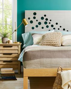 Diy Fabric Headboard, Cheap Diy Headboard, Headboard Cover, Custom Headboard, Headboard Designs, Headboards For Beds, Headboard Ideas, Simple Bedroom Decor, Bedroom Ideas