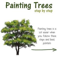 """Art with Flo on Instagram: """"Painting trees step by step 🌳 The fully narrated video and foliage brush is available to my patrons at Patreon. . . . I used a…"""" Digital Painting Tutorials, Step By Step Painting, Craft Corner, Painting Trees, Clip Art, Herbs, Commercial, Instagram, Free"""