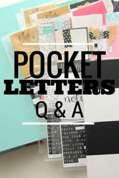 Some Pocket Letter FAQs answered :) #pocketletters #janettelaneblog #pocketletterpals