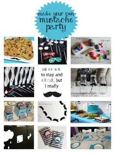 Make your own Milk, Cookies, and Mustaches Party! Baby First Birthday, First Birthday Parties, Birthday Party Themes, First Birthdays, Birthday Ideas, Moustache Party, Mustache Birthday, Party Themes For Boys, Baby Boy Shower