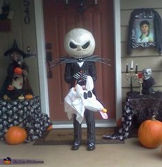 Dawn: My 5 year old daughter loves Jack Skellington and requested this costume for dress up and Halloween. So here is how we did it- Supplies: Jack's Head $15.00 in supplies...