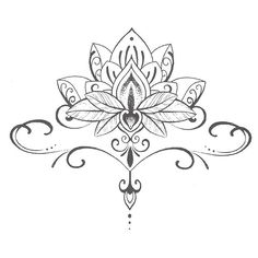 Great Lotus flower idea for women's tattoo. Placement can vary, best placed above abs section.
