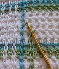 Crochet How to achieve that woven look - Tutorial - love this!