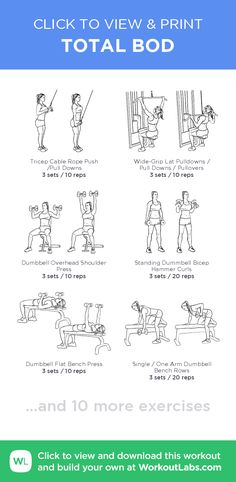 TOTAL BOD – click to view and print this illustrated exercise plan created with #WorkoutLabsFit