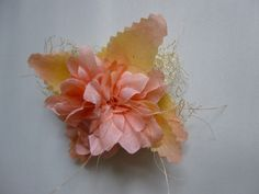 Hair Clips : Pink lace pins