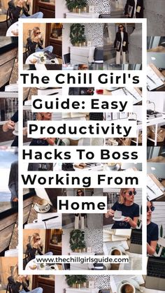 The Chill Girl's Guide: Easy Productivity Hacks To Boss Working From Home. Businesswoman Work From Home Home Office Banana In Pyjamas, Cute Picture Frames, Productivity Hacks, Work From Home Tips, Girl Guides, Life Moments, Home Hacks, Business Women, Coffee Shop