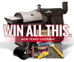 WIN a Grilla Grills Pellet Smoker or Kamado Grill (plus a lot more)! 3 Chances to WIN our #NewYearsGiveaway. Details at www.grillagrills.com/new-year  Contest. Win. FREE. Grill. Smoker. Gear. Thermapen. GrillGrate.