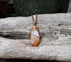 Rough Citrine Necklace  Crystal Jewelry  Raw by GypsyGemsHawaii