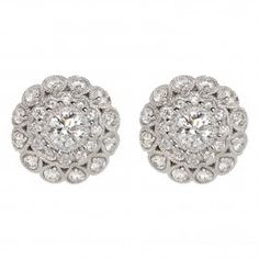 Delicate 18ct White Gold Fenice Diamond Earrings
