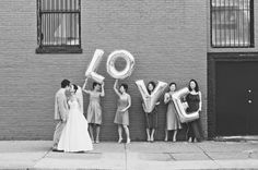 bridesmaids with balloons I love the look it's super neat! Wedding Photography Inspiration, Wedding Inspiration, Wedding Ideas, Wedding Stuff, Always A Bridesmaid, Bridesmaids, Denver Wedding Photographer, Marry Me, Wedding Bells