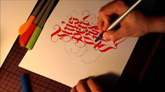 PILOT parallel pen test by THEOSONE Some really fun calligraphy drawn in this test/demo