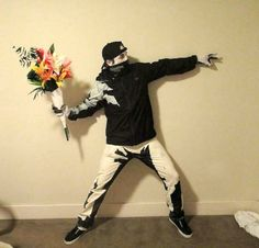 Famous artist, or in this case, street artist costumes. Check them all out, Banksy to Van Gogh to Lichtenstein.
