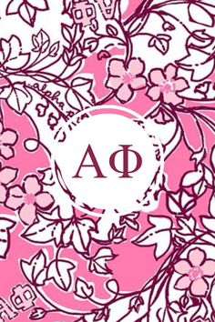 Alpha phi Lilly monogram iPhone background