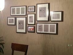 Gallery Wall Layout. IKEA Ribba frames in grey