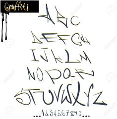 Graffiti Alphabet Fonts Az Graffiti Font Alphabet, Abc Letters Royalty Free…