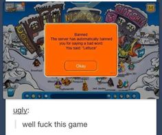 Funny pictures about Unfair Club Penguin. Oh, and cool pics about Unfair Club Penguin. Also, Unfair Club Penguin. Funny Cute, The Funny, Hilarious, Super Funny, Funny Tumblr Posts, My Tumblr, Club Penguin Funny, Club Pinguin, Lol