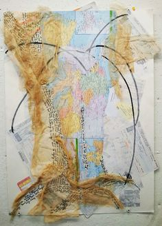 """Collage- """"Walking Map"""""""