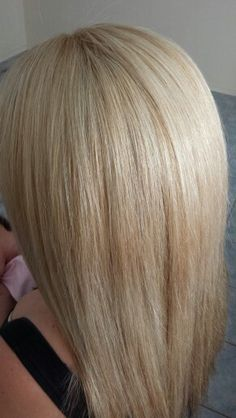 Creamy blonde using tint and only a few fine foils . My own work