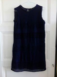 Robe dentelle bleue Zara