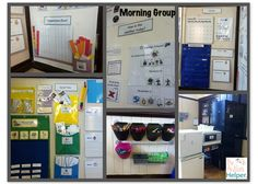 Morning Group Visuals in an Autism Classroom