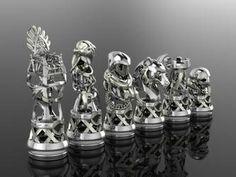 GoT Lannister Chess by GeoSpooky on DeviantArt Modern Chess Set, Chess Set Unique, Got Lannister, Grandmaster Chess, Got Stark, Chess Tactics, Mens Gear, 3d Prints, Chess Pieces