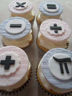 Mathematics Cupcakes...try with different heart rhythms