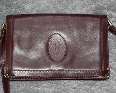 CARTIER, sac vintage, authentique, pochette femme cuir bordeaux, circa 70s,  tres cc1edfe6d93