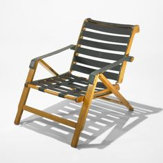 Marco Zanuso, Beech and Leather Weekend Lounge Chair for Arflex, 1951.