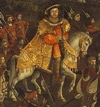 Detail of Henry VIII from The FIeld of Cloth of Gold Painting - king-henry-viii Photo