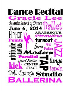 Personalized Custom Printable Dance Recital by AddieBelleCreations