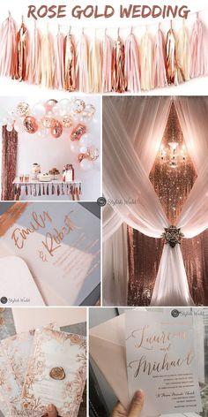 Rose gold wedding decor and wedding invitation ideas #wedding#weddinginvitations#stylishwedd#stylishweddinvitations #vellumweddinginvitations