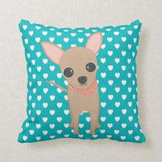 Cute Chihuahua Throw Pillow   rat terrier chihuahua, rat terrier chihuahua mix dogs, pomeranian chihuahua mix #chihuahuanation #chihuahualovefood #Chihuahuasofinsragram Chihuahua Clothes, Cute Chihuahua, Chihuahua Puppies, Silk Sheets, Percale Sheets, Rat Terrier, Teal Background, Custom Pillows, Party Hats