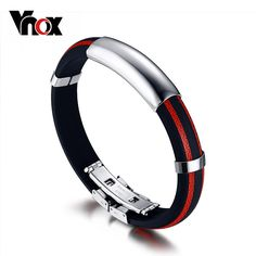 Adjustable Bracelet & Bangle Wear Silicone Wristband Running Stainless Steel Clasp Who like it ? #Jewelry #shop #beauty #Woman's fashion #Products