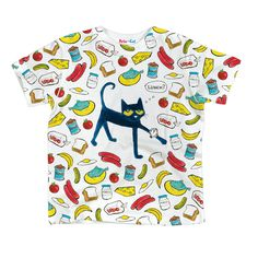 29449e0a739b7 Officially licensed Pete the Cat kids clothes! Pete the Cat Big Lunch Time  Sublimated Toddler Shirt.
