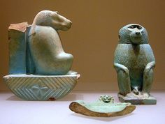 faience baboon figurines | Faience  Egypt, Late Period  Dyna… | Flickr