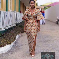 Trendy-Outfits-for-Curvy-African-Ladies Modern African Dress. - Diyanu Fashion Trendy-Outfits-for-Curvy-African-Ladies Modern African Latest African Fashion Styl Latest African Styles, Latest African Fashion Dresses, African Dresses For Women, African Print Dresses, African Attire, African Prints, African Dress Styles, Ankara Dress Styles, African Clothes
