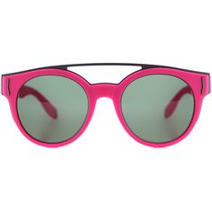 Givenchy GV 7017 VFA Fluorescent Fuchsia Round Plastic Sunglasses ($248) ❤ liked on Polyvore featuring accessories, eyewear, sunglasses, pink, pink sunglasses, givenchy eyewear, plastic sunglasses, round glasses and round sunglasses
