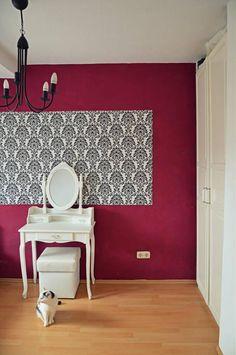 schablonen - tupfen, dekorative wandschablone - ein designerstück ... - Trkise Wand