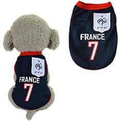 SymbolLife Dog Clothes Football T-shirt Dogs Costume National Soccer World  Cup FIFA Jersey for 80c435bb0