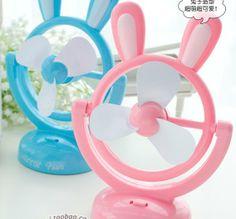 free shipping Cute little bunny portable mini fan USB fan battery fan op050-in USB Gadgets from Electronics on Aliexpress.com