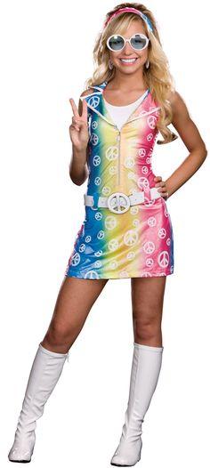 Sassy Polly Ester Retro Peace Sign Junior Dress Costume X-Small 60s Costume, Hippie Costume, Costume Dress, Girl Costumes, Costumes For Women, Maleficent Halloween Costume, Halloween Costumes For Teens, Haunted Halloween, Vampire Costumes