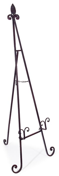 Large Wrought Iron Art Stand Display Easel Metal 50 Inch