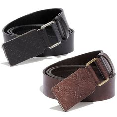 Guess Men's Signature Leather Belts, currently on sale for $13.99 from $42.99 and up to 10% cash back from FatWallet
