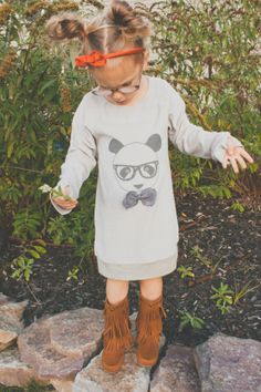 she's got it all, from the fringe boots to hair and glasses. #designer #kids via love life and babies.